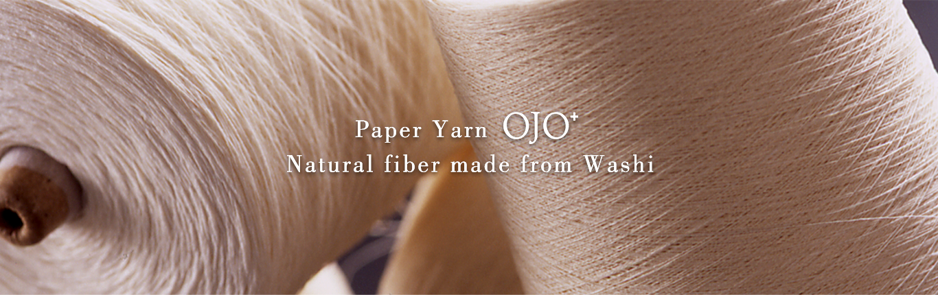 Paper Yarn OJO⁺ Natural fiber made from Washi